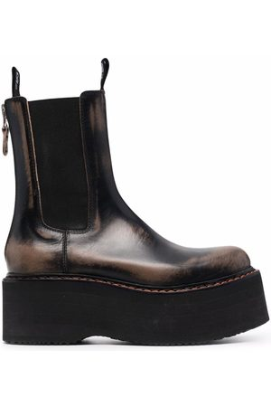 R13 Damen Stiefeletten - Chunky-sole leather chelsea-boots