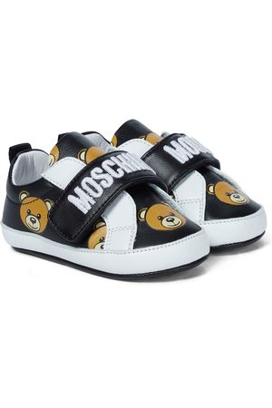 Moschino Baby Sneakers aus Leder