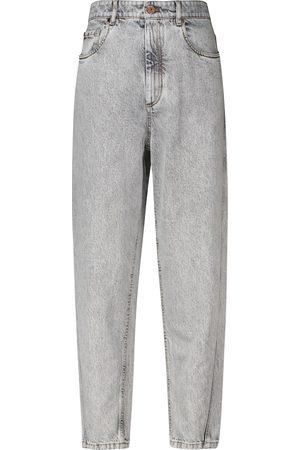 Brunello Cucinelli Damen Straight - High-Rise Straight Jeans
