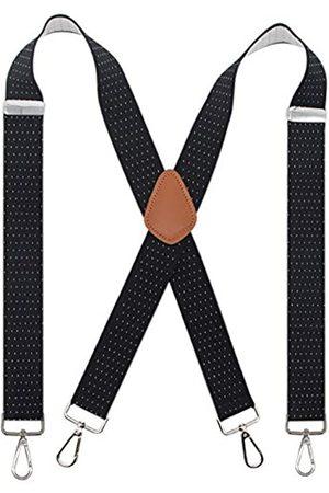 Bioterti Herren Hosenträger mit 4 Karabinerhaken, robust, X-Rücken, 3