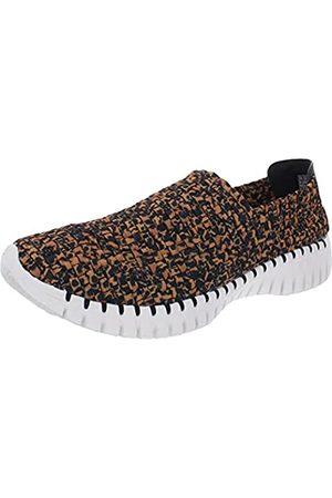 Skechers Damen Go Walk Smart - Wilderness Slip On Sneaker, Braun (leopard)