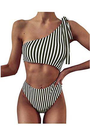 SolwDa Sexy Damen-Bikini, Badeanzug, hoher Schnitt, freche Bademode, Stringhose
