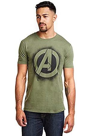 Marvel Herren T-Shirt Stencil Logo