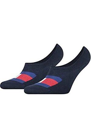 Tommy Hilfiger Mens Flag Men's Footie (2 Pack) Socks