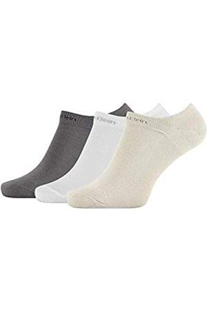 Calvin Klein Socks Mens Herren Sneakersocken ECL376, 3er Pack, Black, 40/46 Socks
