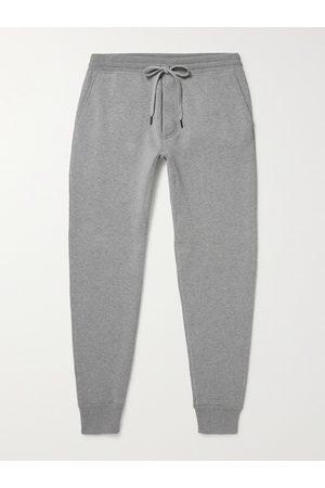 TOM FORD Tapered Mélange Fleece-Back Cotton-Blend Sweatpants