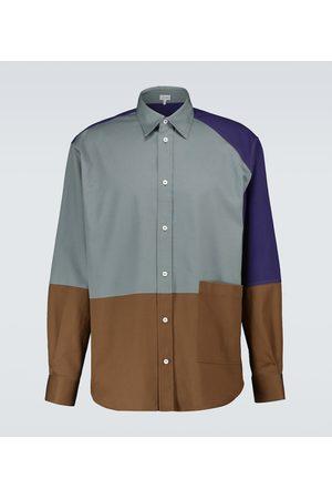 Loewe Patchwork-Hemd aus Baumwolle