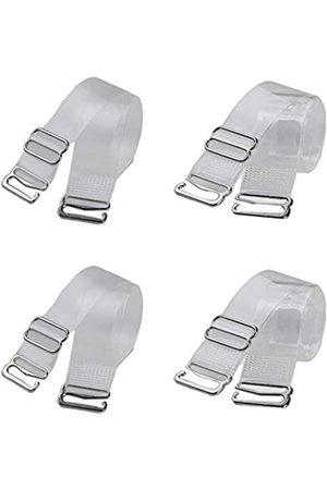 QWEQWE Unsichtbarer transparenter BH-Träger, rutschfest, verstellbar, weich, transparent, Schultergurt (Kunststoff-Schnalle