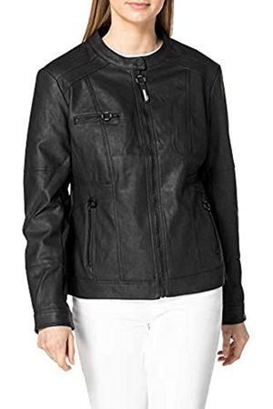 CECIL Damen 211306 PU Jacket Kunstlederjacke, Black