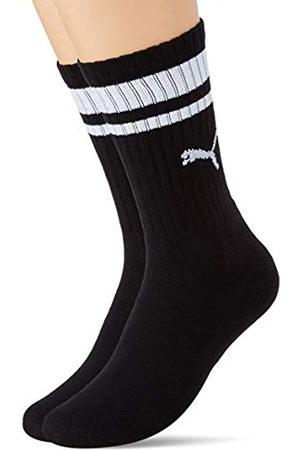 PUMA Unisex-Adult Crew Heritage Stripe (2 Pack) Socks