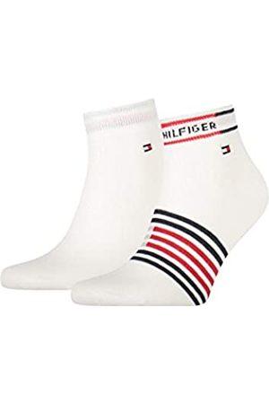 Tommy Hilfiger Mens Breton Stripe Men's Quarter (2 Pack) Socks