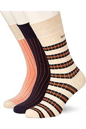 Scotch&Soda Herren Classic Ribbed Cotton-Blend Socken