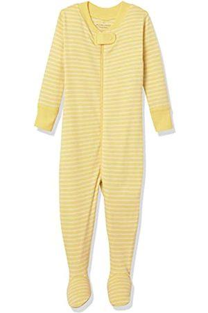 Moon and Back by Hanna Andersson Einteiliger Schlafanzug für Babys und Kleinkinder aus Bio-Baumwolle, mit Füßen, gelb