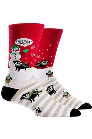 Sock It To Me Herren Socken - lustige Herren Socken iss niemals gelben Schnee mit Schneemann und Hund Gr.42-47 One Size