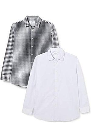 FIND Herren 2 Pack Regular Shirt Businesshemd