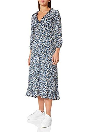 Springfield Damen Vestido Midi Flores Kleid