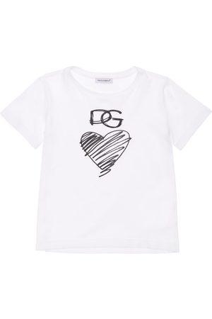 Dolce & Gabbana Bedrucktes T-shirt Aus Baumwolljersey