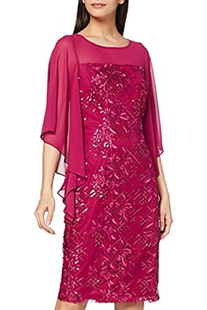 Gina Bacconi Damen Women's Embroidered Cape Sleeve Dress Cocktailkleid