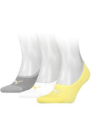PUMA Unisex-Adult Footie (3 Pack) Socks