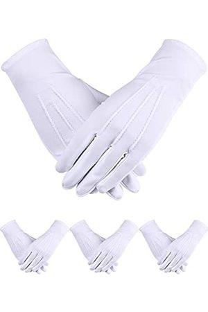 Sumind Uniformhandschuhe, Elastan, 4 Paar Handschuhe, Handschuhe für Herren, Polizei, Smoking, Wachparade