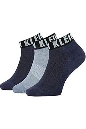 Calvin Klein Socks Mens Logo Cuff Men's Quarter (3 Pack) Socks