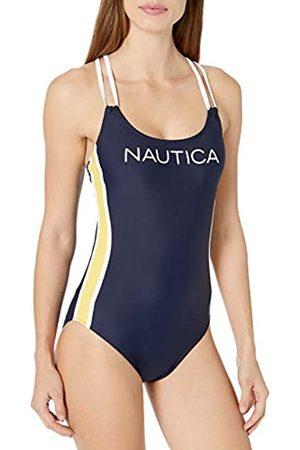 Nautica Damen Cross Back One Piece Einteiliger Badeanzug
