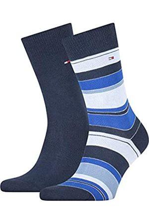 Tommy Hilfiger Mens Color Stripe Men's (2 Pack) Socks