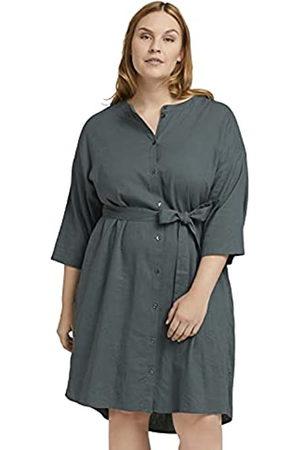 TOM TAILOR Damen 1025541 Plussize Blouse Kleid, 21951-Washed Jasper Green