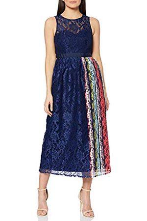 Little Mistress Damen Drew Navy Lace Midaxi Dress with Contrast Stripe cocktailkleid, 001