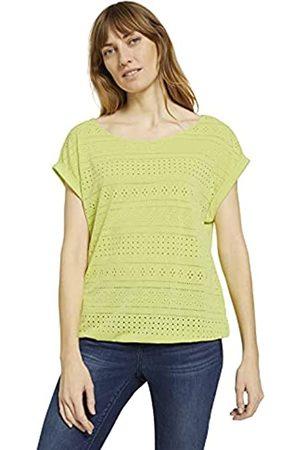 TOM TAILOR Damen 1025784 Jaquard T-Shirt, 26777-Celery Ice