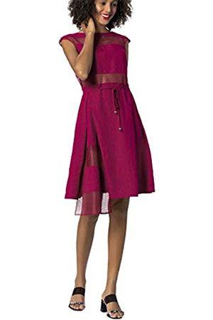 Apart APART Damen Kleid mit Mesh-Einsätzen