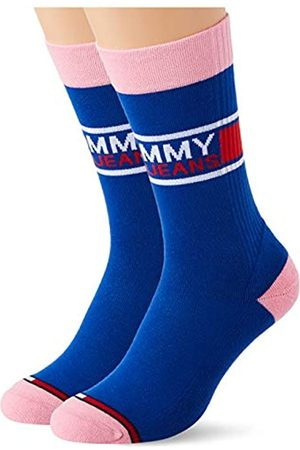 Tommy Hilfiger Unisex-Adult Tommy Jeans Crew (2 Pack) Socks
