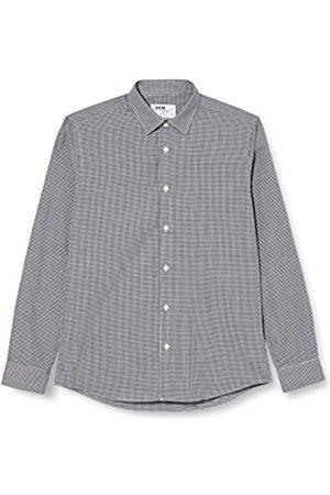 Hem & Seam Amazon-Marke: find. Herren Formales kariertes Slim Fit-Hemd, 54(Herstellergröße: 16.5)