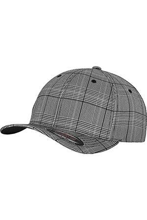Flexfit Damen und Herren Baseball Caps Glen Check Cap, Black/White