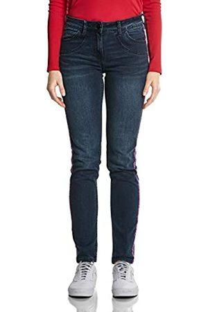 CECIL Damen Slim Jeans 371855 Charlize, Mehrfarbig (blue/black used wash)