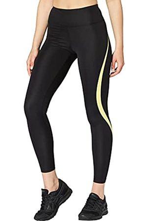 AURIQUE Amazon-Marke: Damen Sportleggings mit hohem Bund, (Black/Lime)