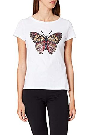 Springfield Damen Camiseta Dibujo Lentejuelas Unterhemd