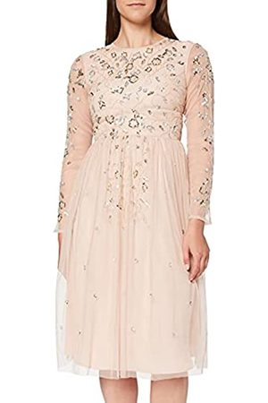 Frock and Frill Damen Gala Long Sleeve Embellished Midi cocktailkleid