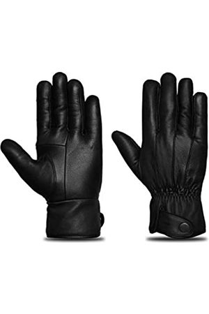 MMK Leather Fahrhandschuhe Touchscreen Leder Handschuhe für Herren Reithandschuhe - - Large