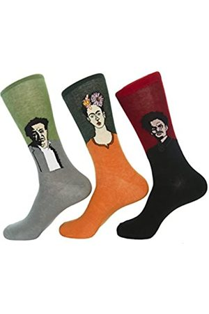 Culture Sock Herrensocken Frida Kahlo, Diego Rivera, Leon Trotsky (3 einzelne