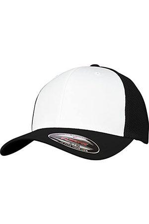 Flexfit Mesh Colored Front Unisex Kappe für Damen und Herren, Mehrfarbig (blk/Wht)