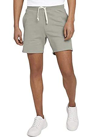 TOM TAILOR Herren 1026108 Sweatpants Bermuda Shorts, 10767-Greyish Shadow Olive