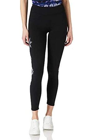 Desigual Womens Legging Mandala Swiss EMB Casual Pants, Black