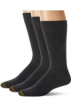 Gold Toe Herren Micro Flat Knit Crew Socken 3 Paar - - Large