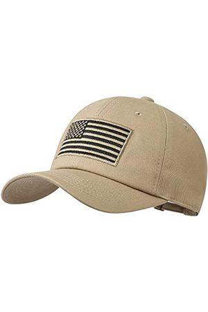 VIONLAN Amerikanische Flagge Hut USA Baseball Cap für Männer Frauen Einstellbare Low Profile Tactical Operator Army Plain Hat - Beige - Einheitsgröße