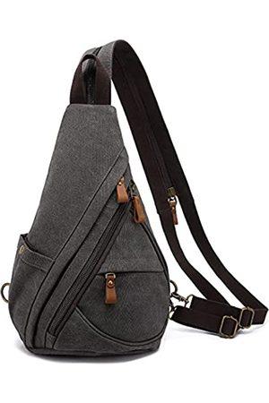 LOVEVOOK Sling Bag Canvas Crossbody Rucksack Schultertasche Reisetasche Casual Daypacks - - Medium