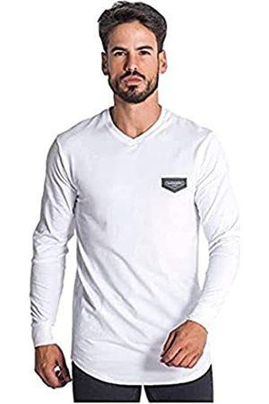 Gianni Kavanagh Herren White Core V Neck Long Sleeve Tee Unterhemd