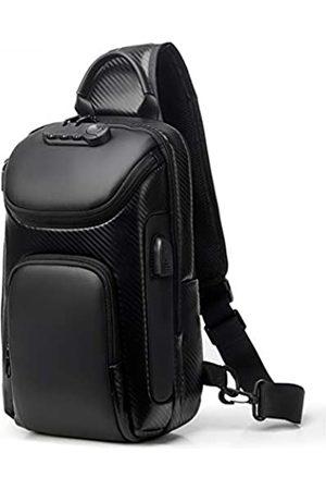 Bag pack Sling Bag für Männer Rucksack mit USB Anti-Diebstahl Herren Reise Brusttasche Casual Schultertaschen Sicherheit Zahlenschloss - - Einheitsgröße