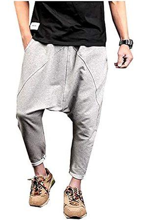 LifeShe Herren Hip Hop Baggy Harem Low Crotch Pants Jogger Sweatpants - - XX-Large