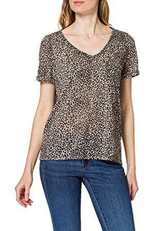 Object Damen OBJTESSI SLUB S/S V-Neck NOOS T-Shirt